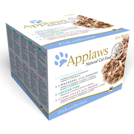 Applaws konzerva Cat Multipack Ryby 12x70g