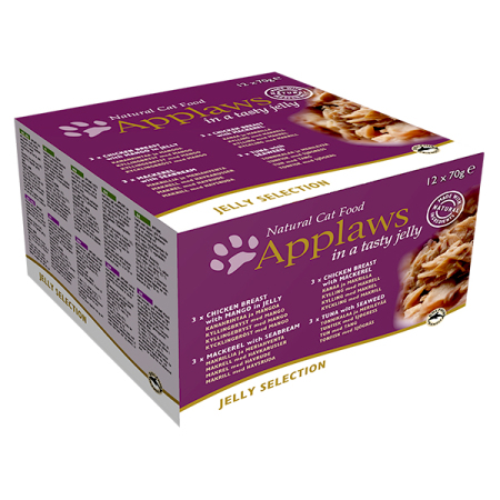 Applaws konzerva Cat JELLY MultiPack 12x70g