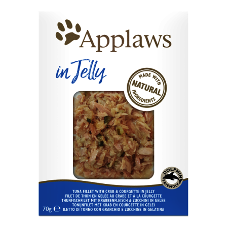 Applaws kapsička Cat Jelly Tuňák s krabem a cuketou 70g