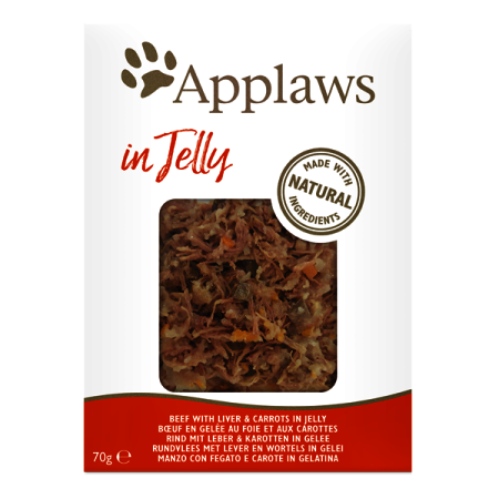 Applaws kapsička Cat Jelly Hovězí s játry a karotkou 70g