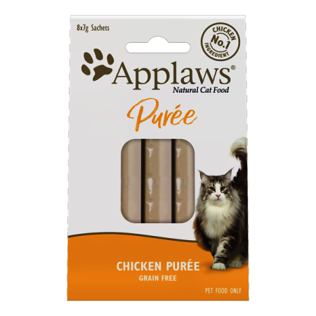 Applaws Purée Cat lízací pyré Kuře 8 x 7g