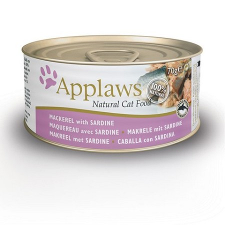 Applaws konzerva Cat makrela a sardinky 156g