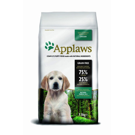 Applaws granule Dog Puppy Small & Medium Breed Kuře 7,5kg - natržený pytel 5% sleva