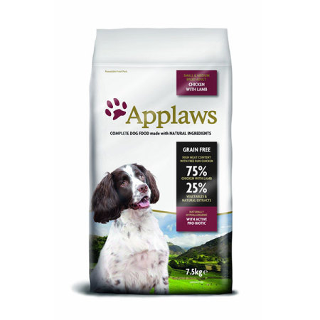 Applaws granule Dog Adult Small & Medium Breed Kuře s jehněčím 7,5kg