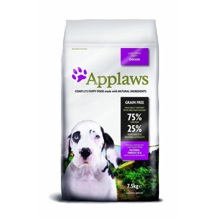 Applaws granule Dog Puppy Large Breed Kuře  7,5kg