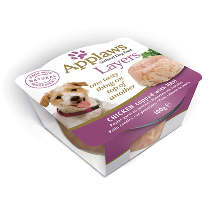 Applaws miska Dog Layers Kuřecí se šunkou 100g