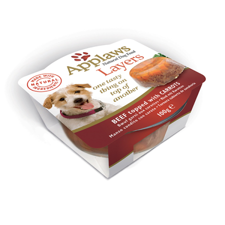 Applaws miska Dog LAYERS hovězí s mrkví 100g