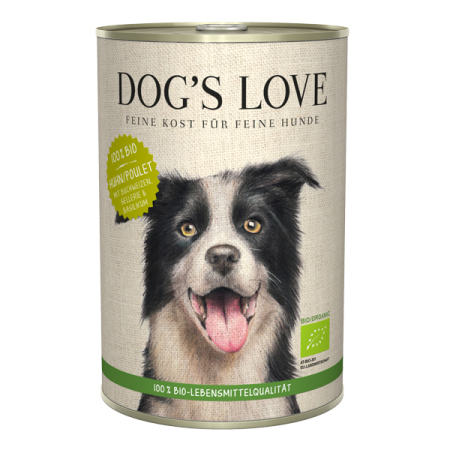 a5027734781 DOGS LOVE konzerva 100% BIO Organic KUŘE 400g