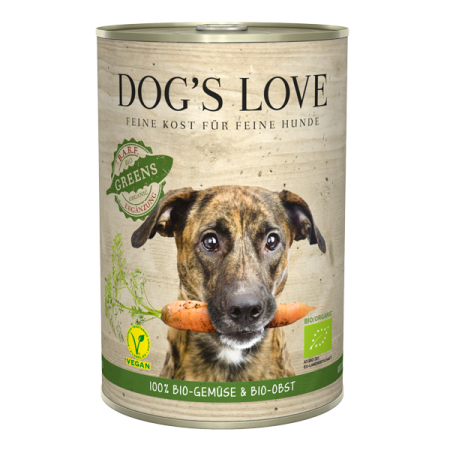 DOGS LOVE konzerva B.A.R.F. 100% BIO Vegan GREENS 400g