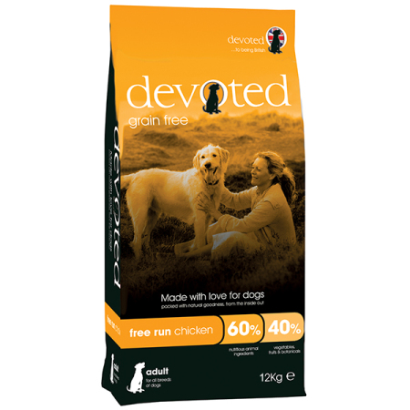 DEVOTED Dog Free Run Chicken 12kg - kuře s krůtou