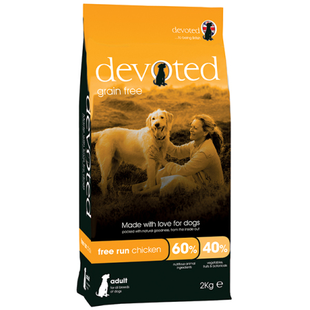DEVOTED Dog Free Run Chicken  2kg - kuře s krůtou
