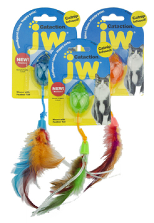JW Cataction Feather Mouse - myš s vůní šanty a peříčky