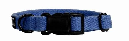 Konopný obojek Planet Dog Hemp Blue   Small - modrý 23-33/1,5cm
