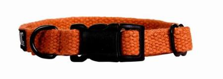 Konopný obojek Planet Dog Hemp Orange   Small - oranžový 23-33/1,5cm