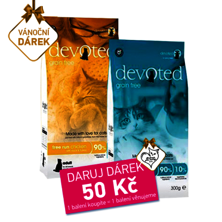 Daruji útulku DEVOTED Cat 300g + 300g věnuje Rebel Dog