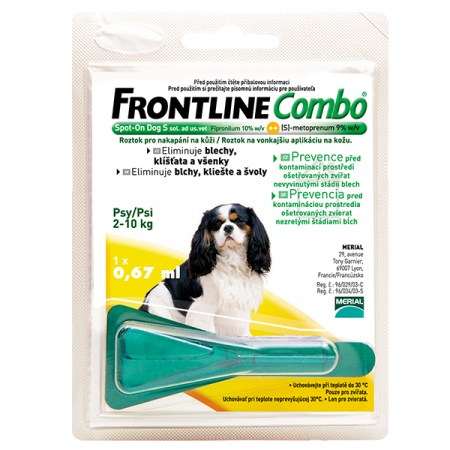 Frontline Combo spot-on DOG   S a.u.v. 0,67ml (2-10kg)