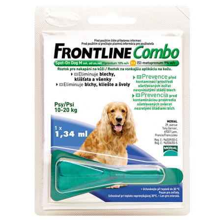 Frontline Combo spot-on DOG  M a.u.v. 1,34ml (10-20kg)