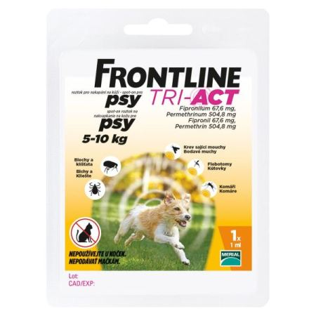 Frontline TRI-ACT spot-on dog   S a.u.v. 1ml (5-10kg)