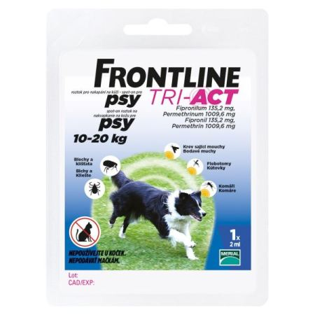 Frontline TRI-ACT spot-on dog  M a.u.v. 2ml (10-20kg)
