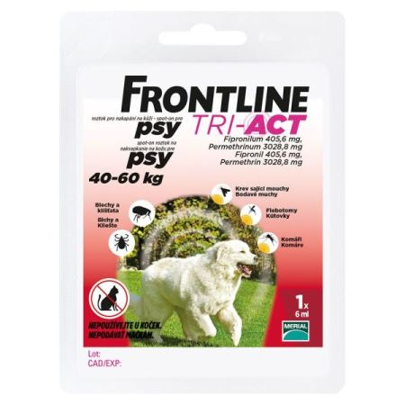 Frontline TRI-ACT spot-on dog XL a.u.v. 6ml (40-60kg)