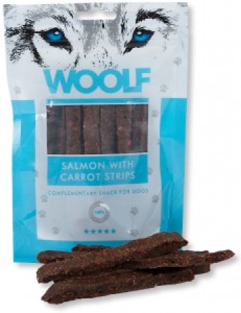 Woolf Salmon with Carrot Stripes 100g
