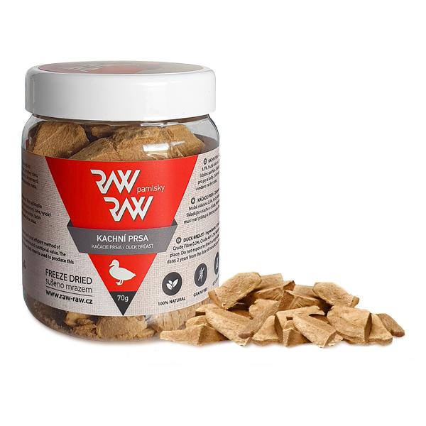Pamlsky Raw Raw mrazem sušená Kachní prsa 70g