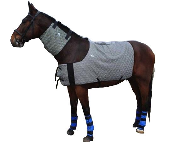 Chladící nákrčník pro koně HyperKewl Horse Neck šedý /   S